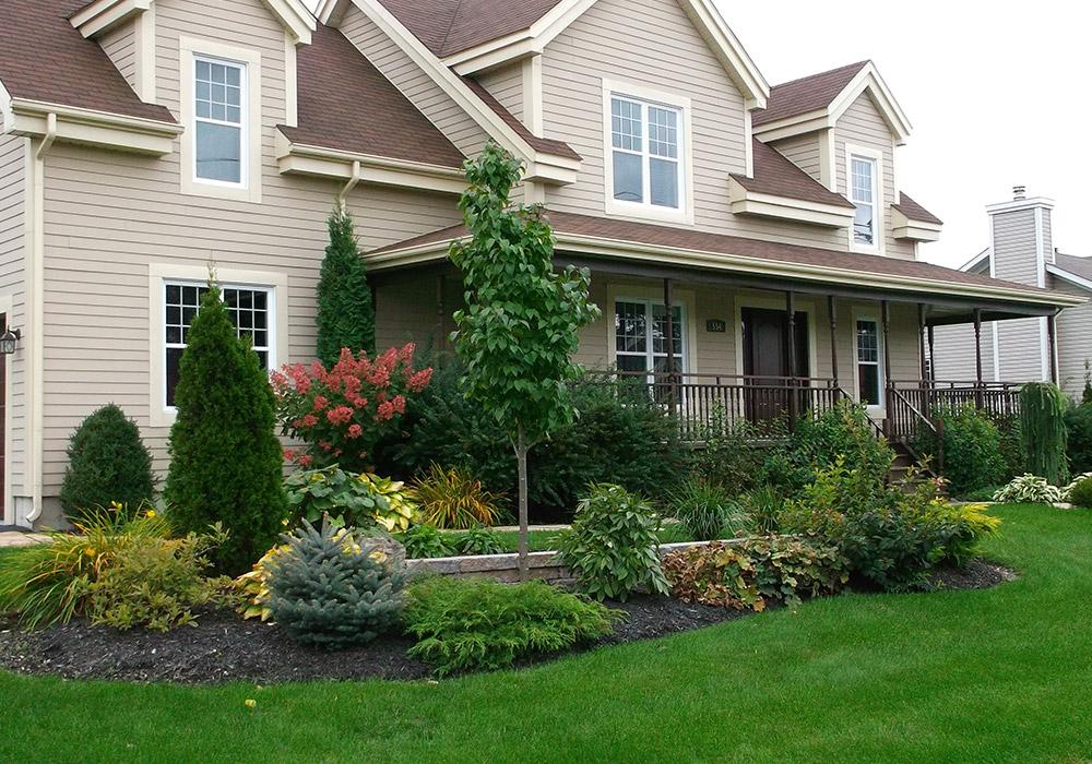 Amnagement extrieur entre maison excellent entre de for Plan amenagement exterieur maison